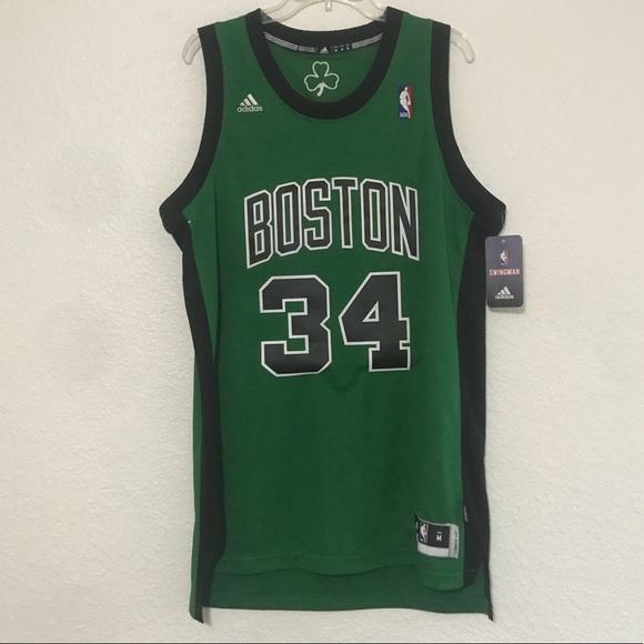 5c7e35105b3 Adidas Boston Celtics Paul Pierce Green Jersey M
